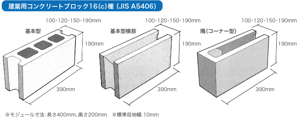 コンクリート ブロック サイズ